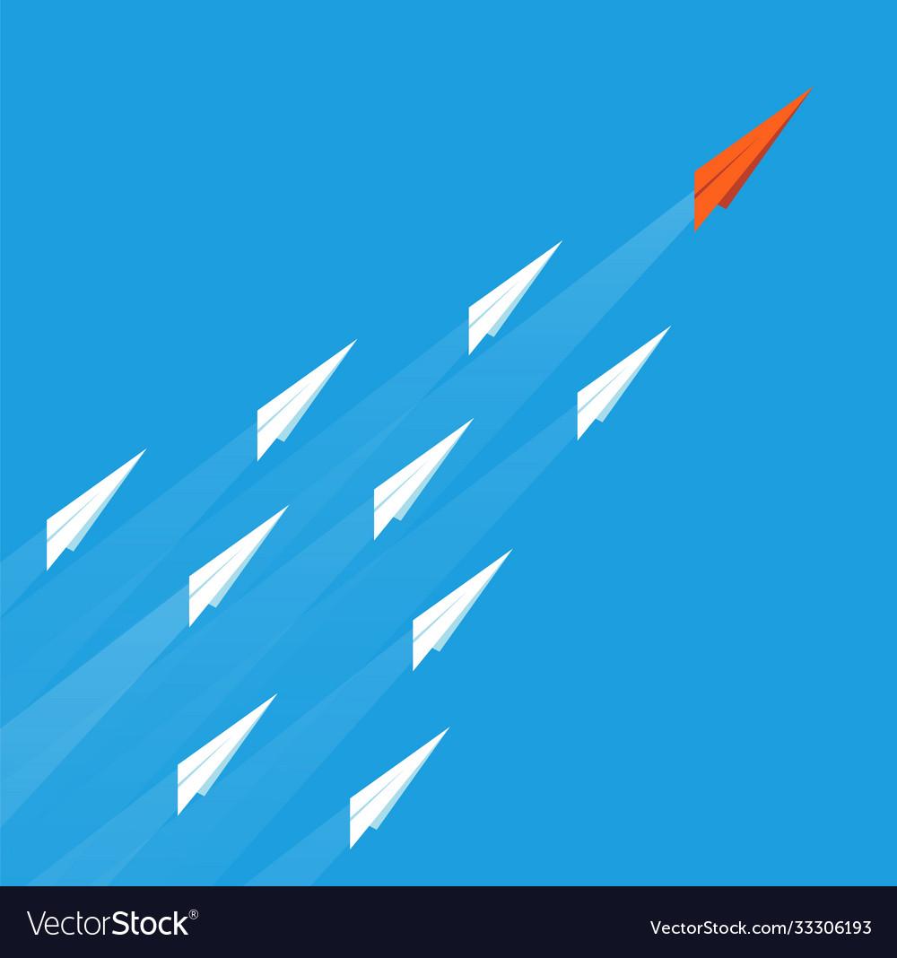 Leadership plane concept business goal paper