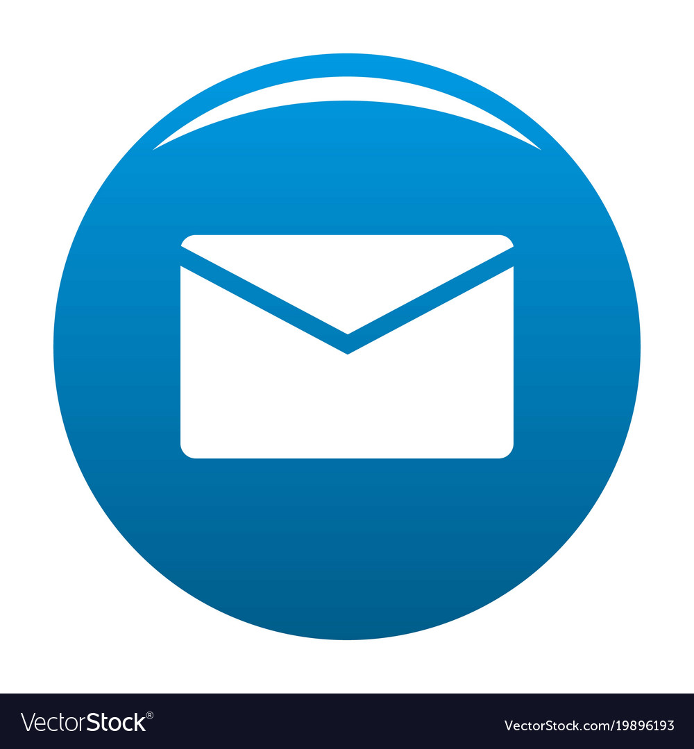 mail icon blue royalty free vector image vectorstock