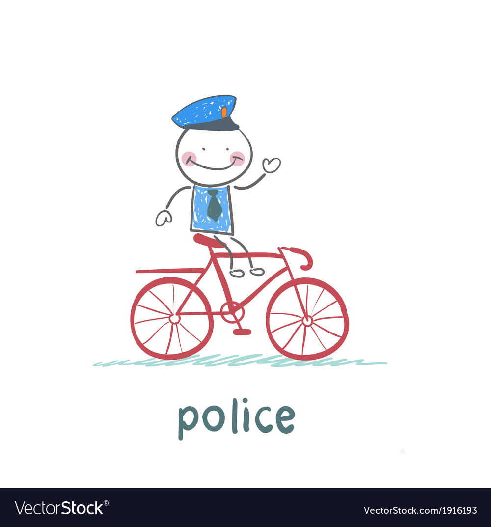 Police riding a bike vector image