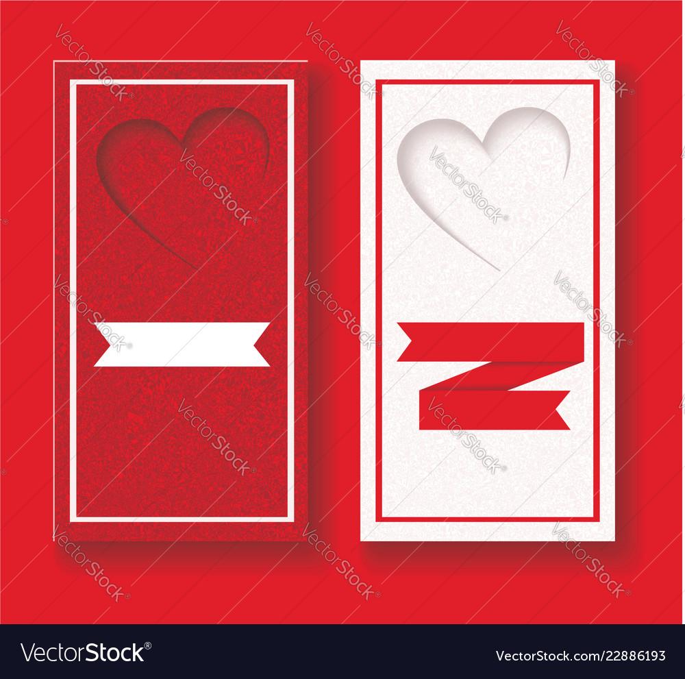 Wedding invitation card with hearts