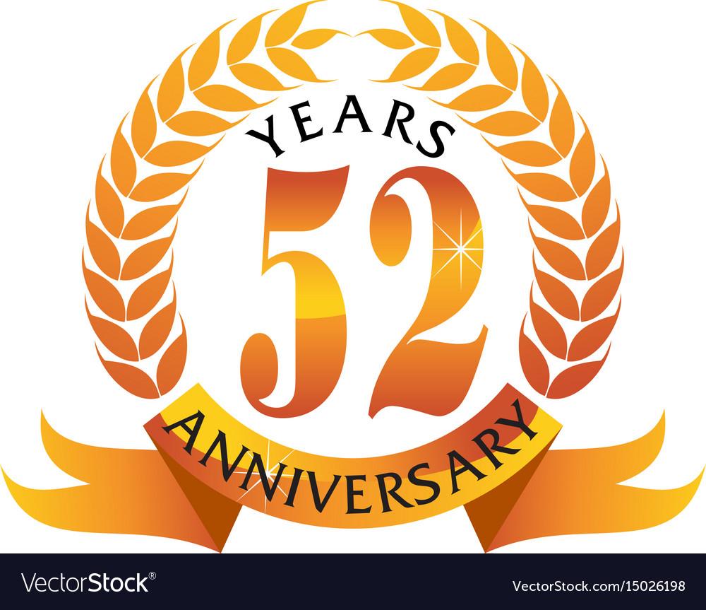 52 years ribbon anniversary
