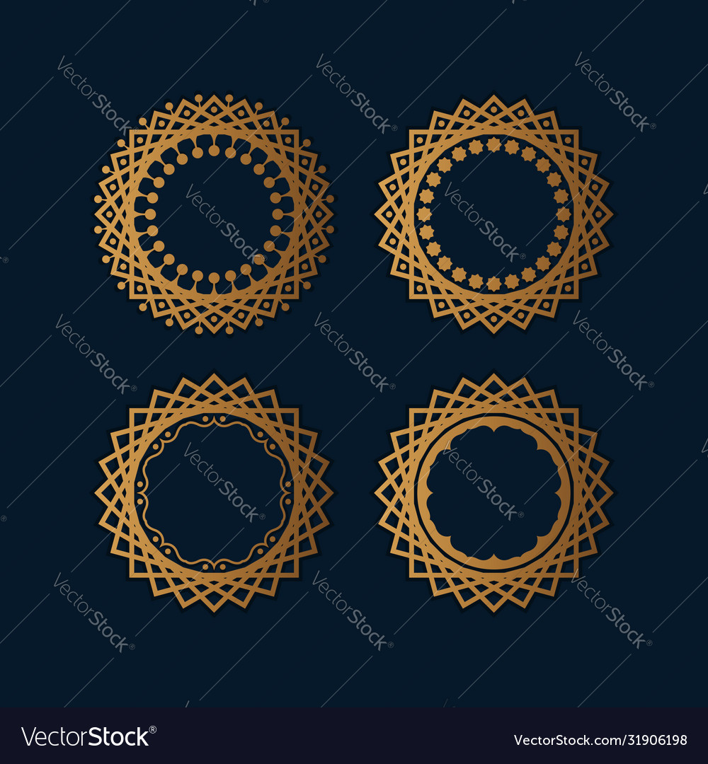 Abstract islamic round ornament perfect