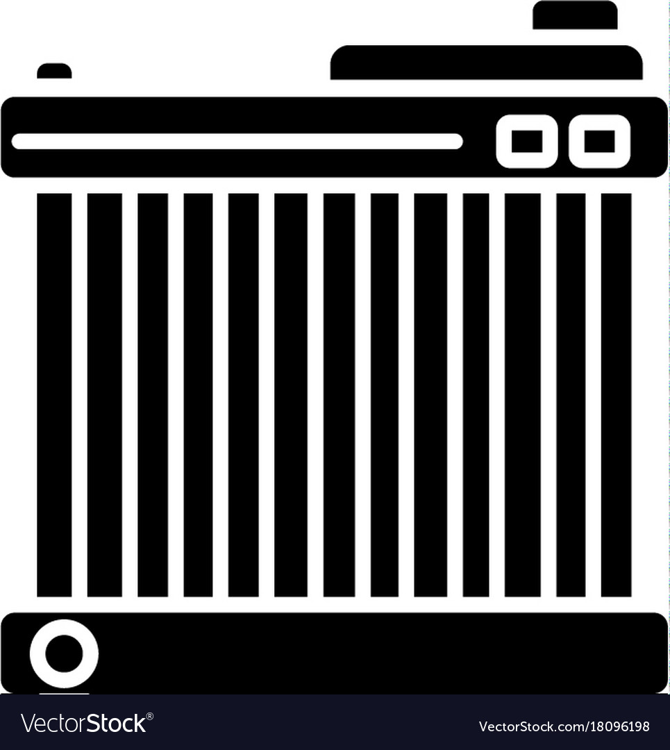 Battery car icon black sign