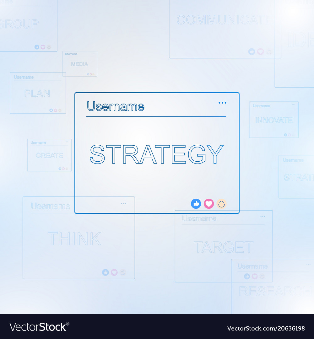 Blue text boxes with online business concept vector image