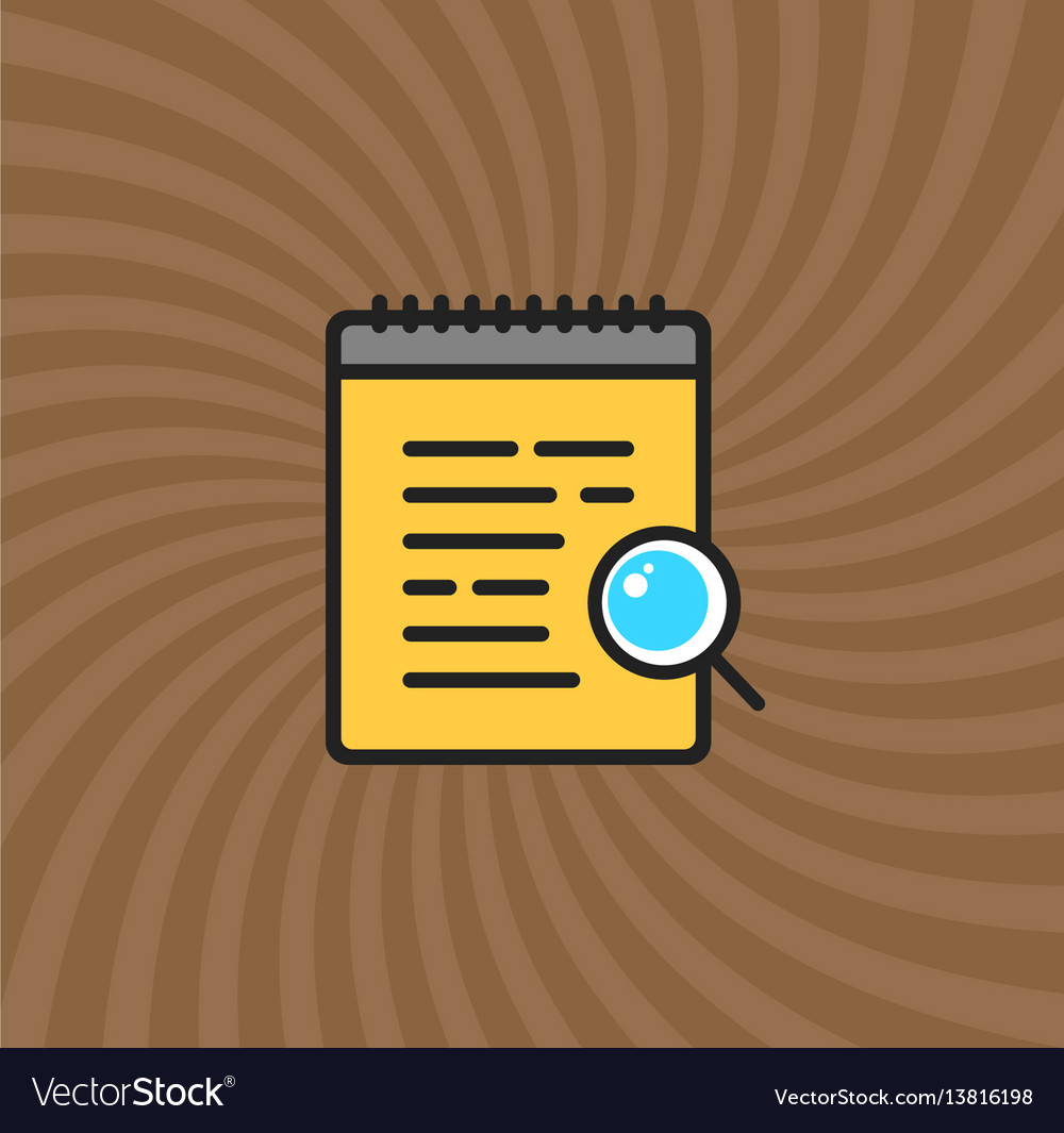 Documents magnifier glass icon simple line