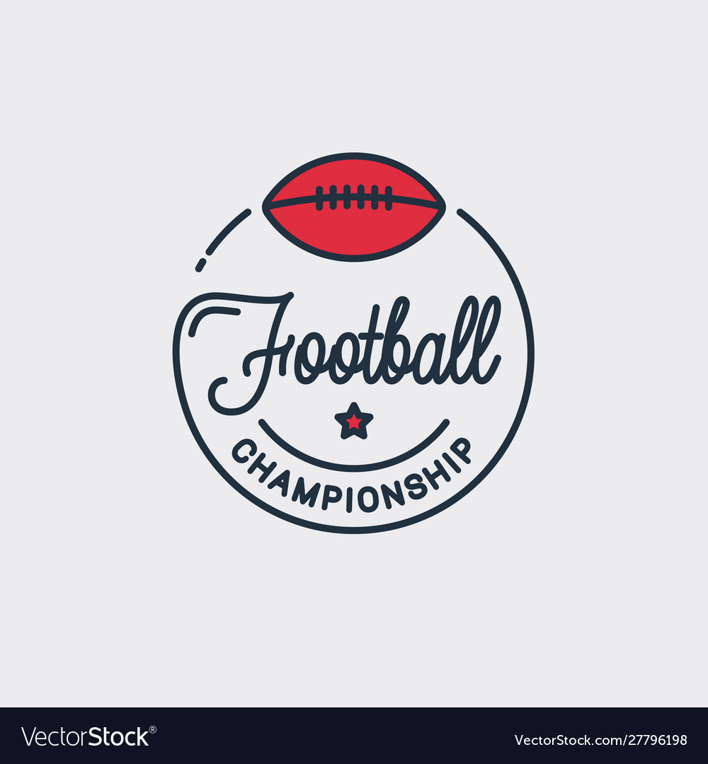 Football champion logo off american football logo