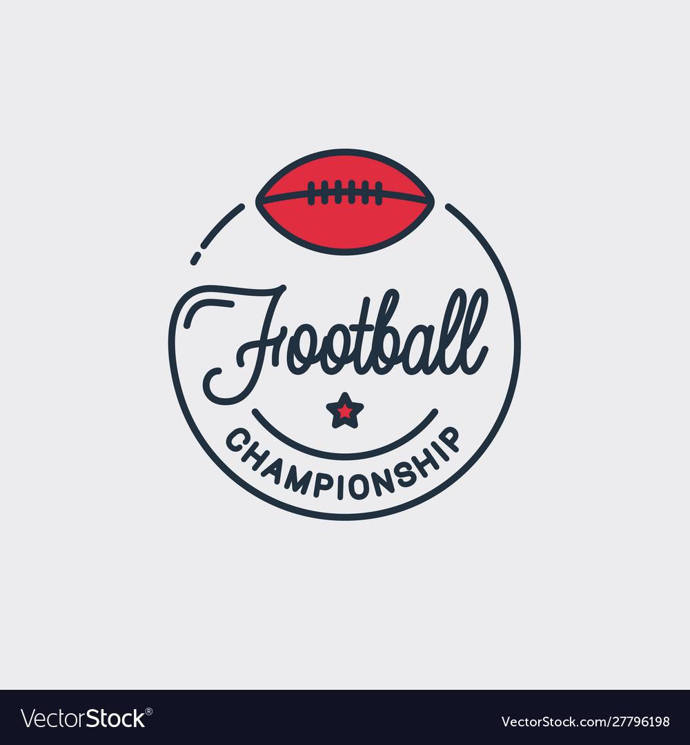 Football champion logo off american logo