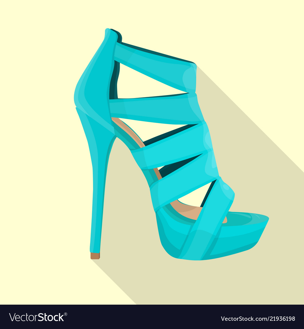 High Heels Sandals Woman Flat Isolated Royalty Free Vector