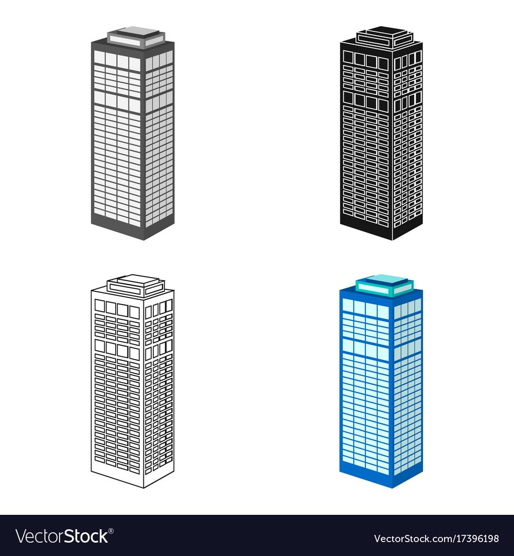 High-rise building of a skyscraper skyscraper