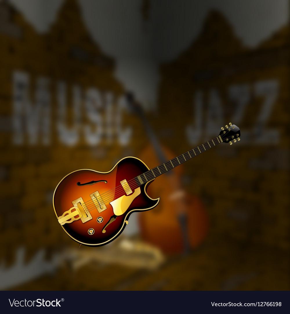 Jazz Music Corner Brick Wall Blurred Background