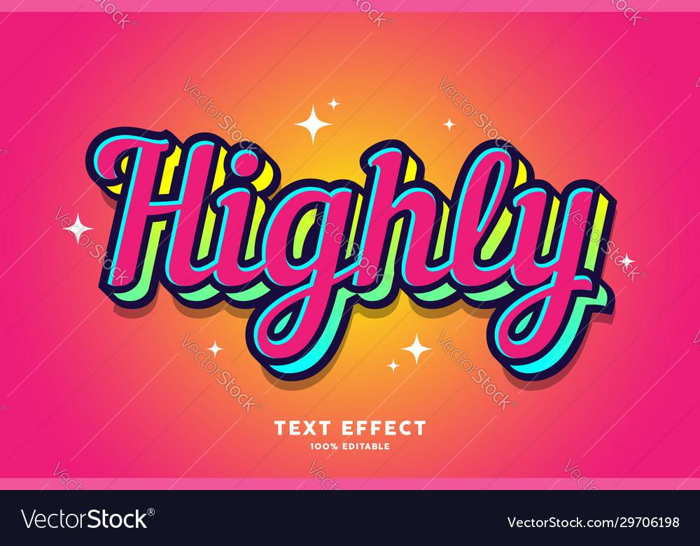 Modern sticker style font effect
