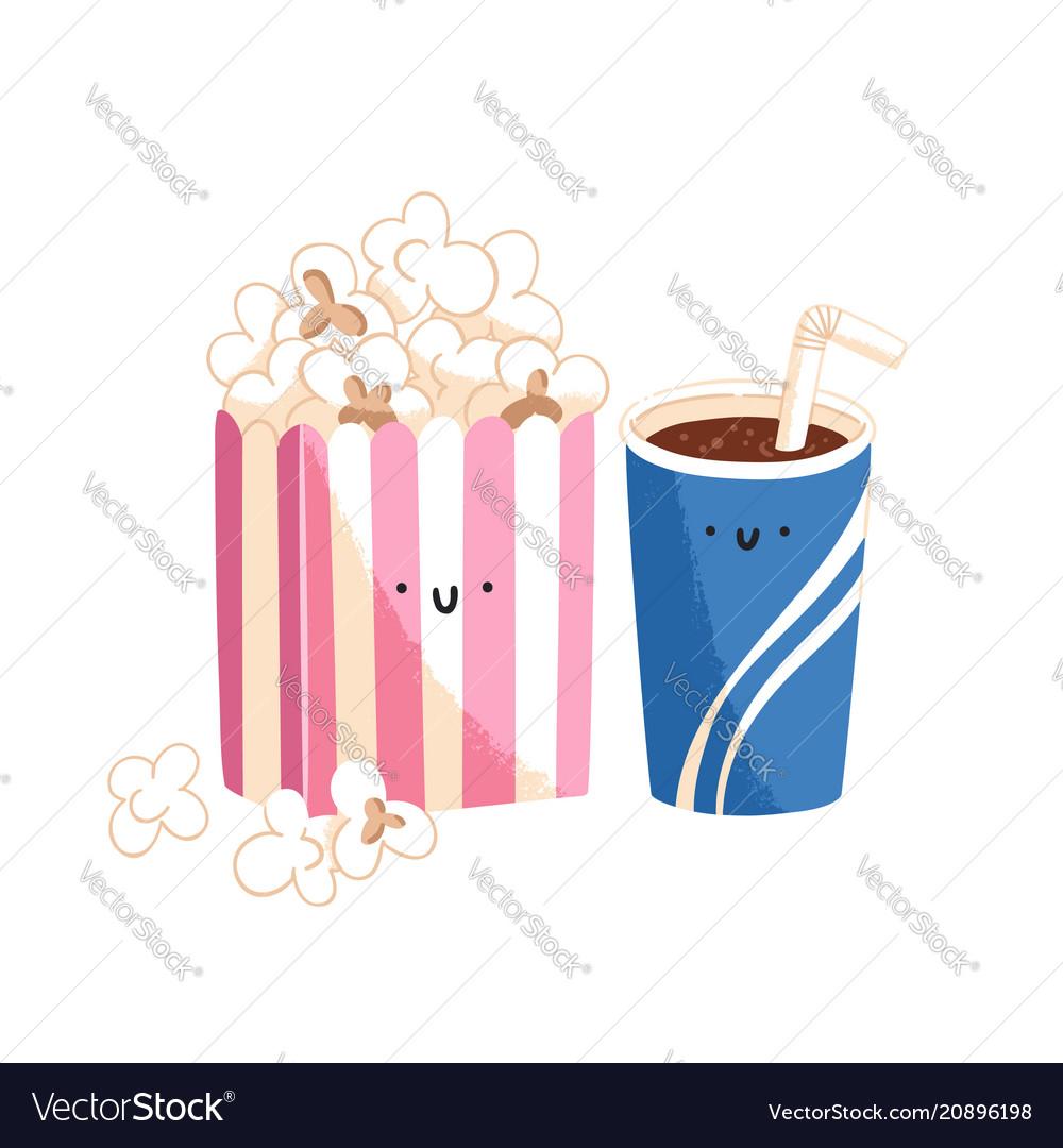 Popcorn and soda