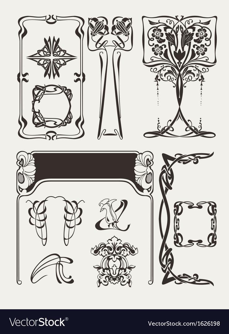 Set Of Art Deco Elements