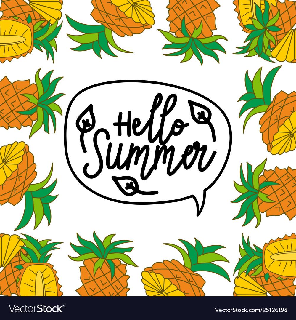 Summer frame text template background