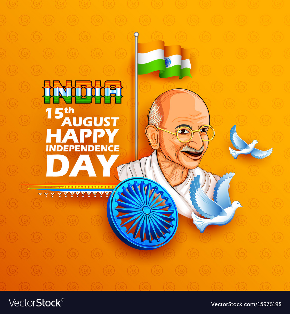 Tricolor india background with nation hero and
