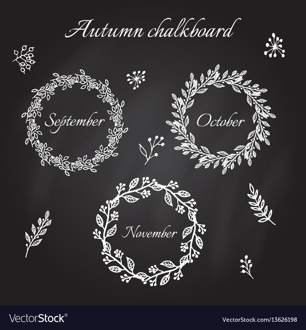 Vintage autumn wreaths