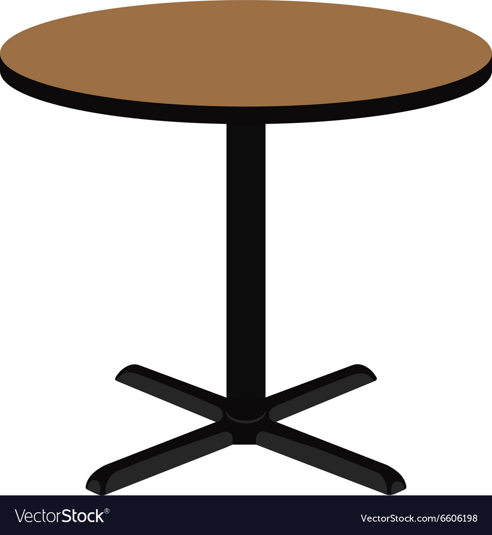 Attractive Wooden Round Table Vector Image