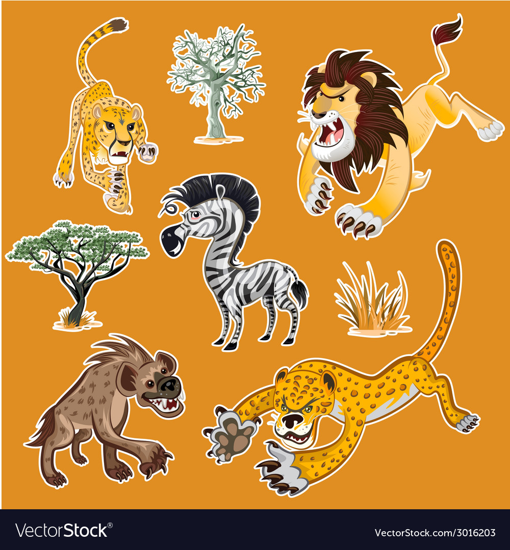 Africa Animals Trees Collection Set 01