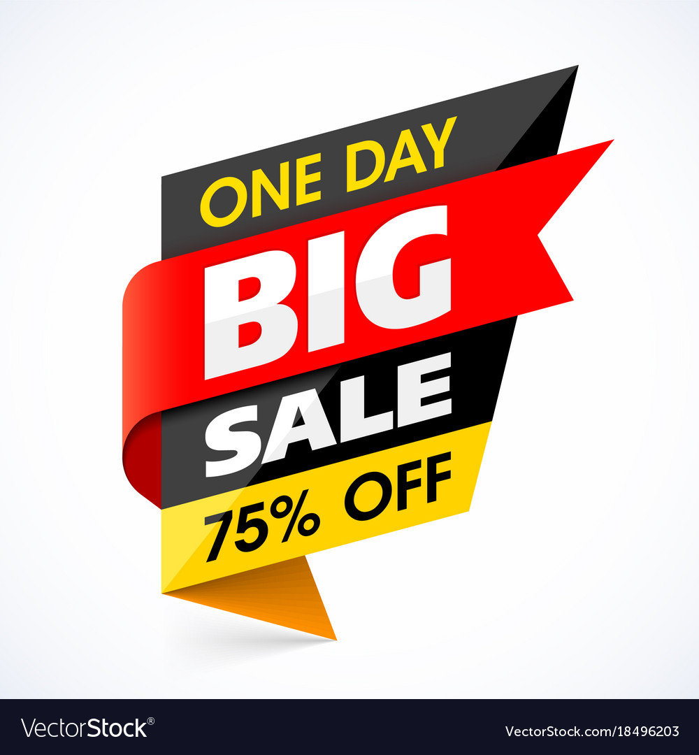 big sale banner one day special offer royalty free vector