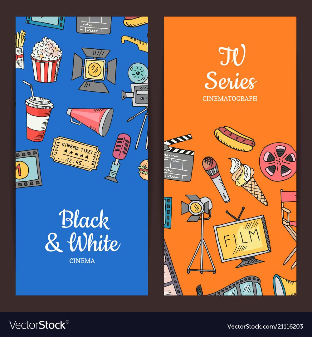Cinema doodle icons
