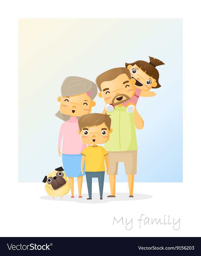 Cute family portrait Happy family background 2