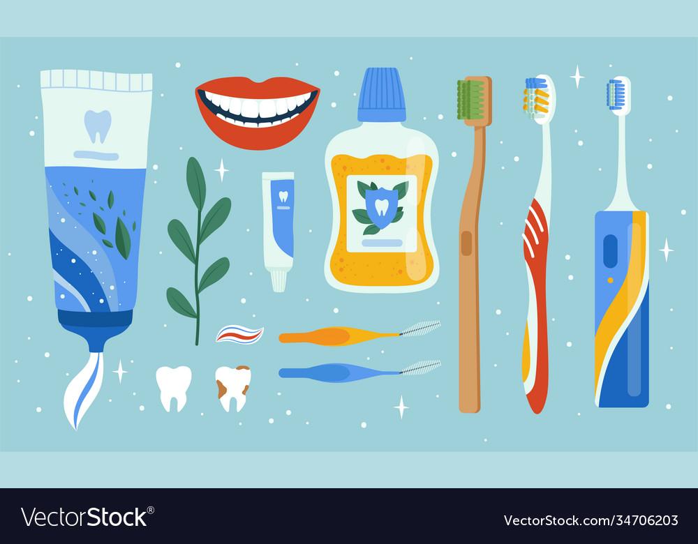 Dentist accessories oral dental hygiene items