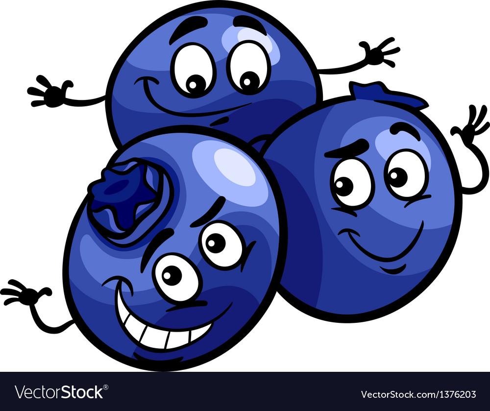 Funny blueberry fruits cartoon