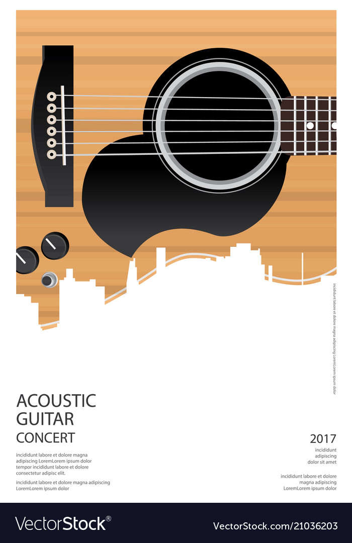 Guitar concert poster background template