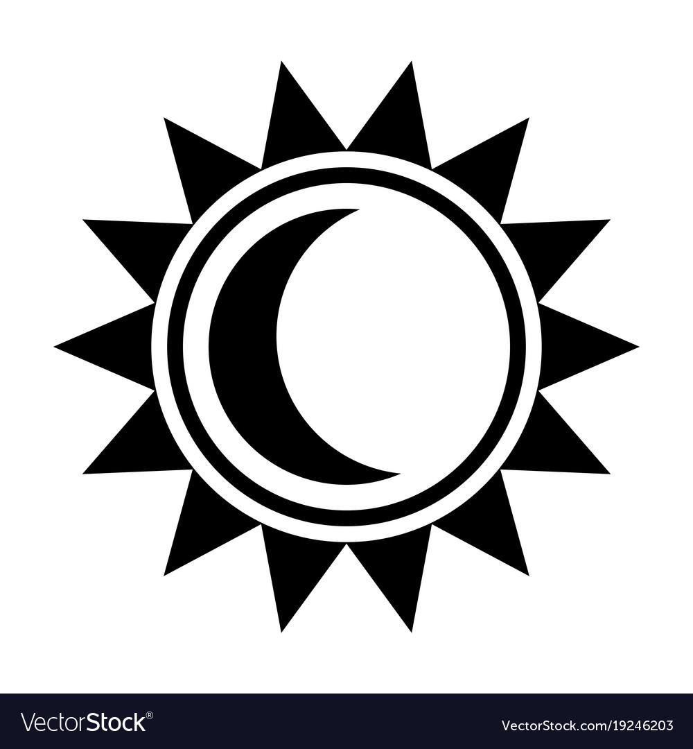 Moon And Sun Icon Royalty Free Vector Image Vectorstock