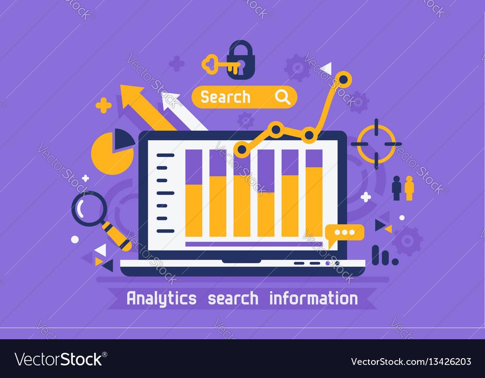 Online analytics search information