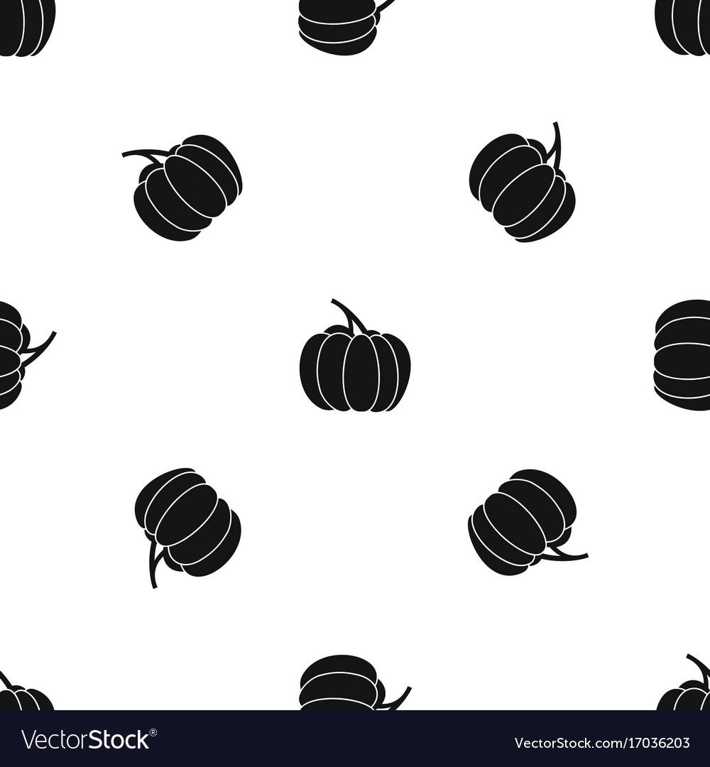 Pumpkin pattern seamless black