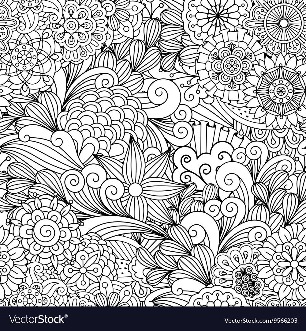 Seamless ornamental full frame background