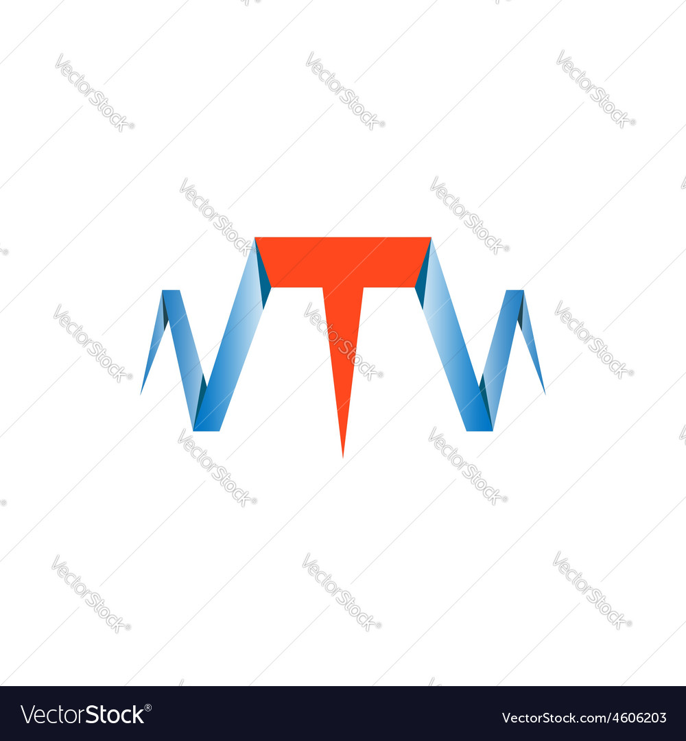 T Letter Abstract Website Logo Nail Symbol Vector Image