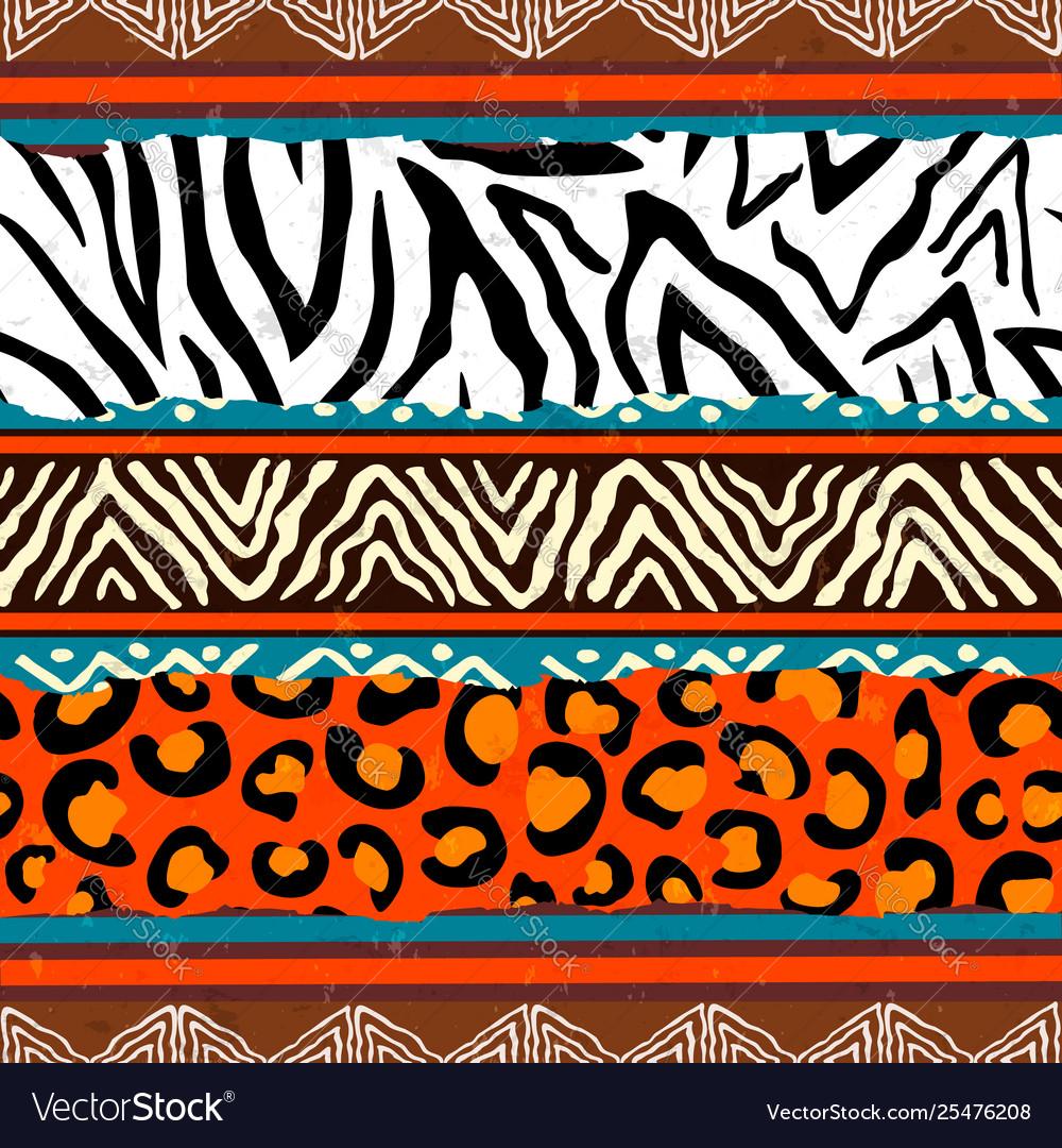 African animal print pattern background