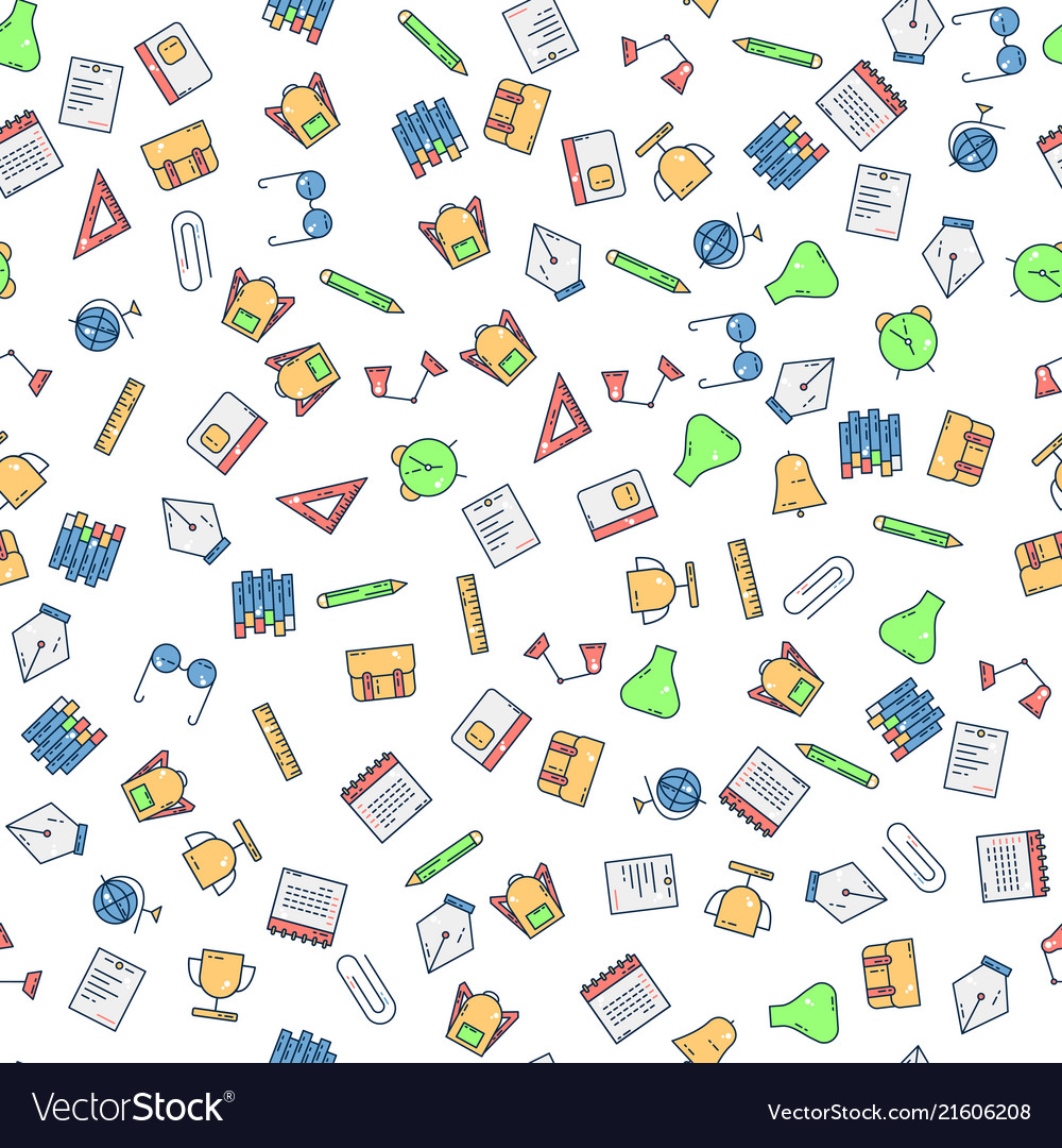Back to school pattern background icon