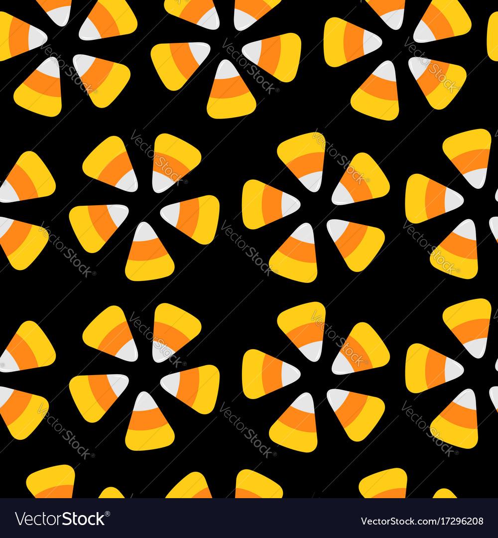 Candy corn happy halloween seamless pattern