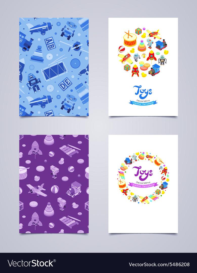 Decorative leaflet design made of toys