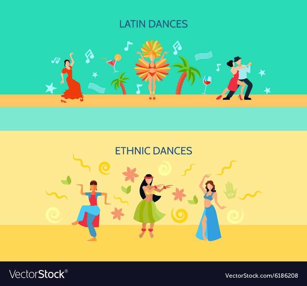 Horizontal Flat dance Style Banners vector image