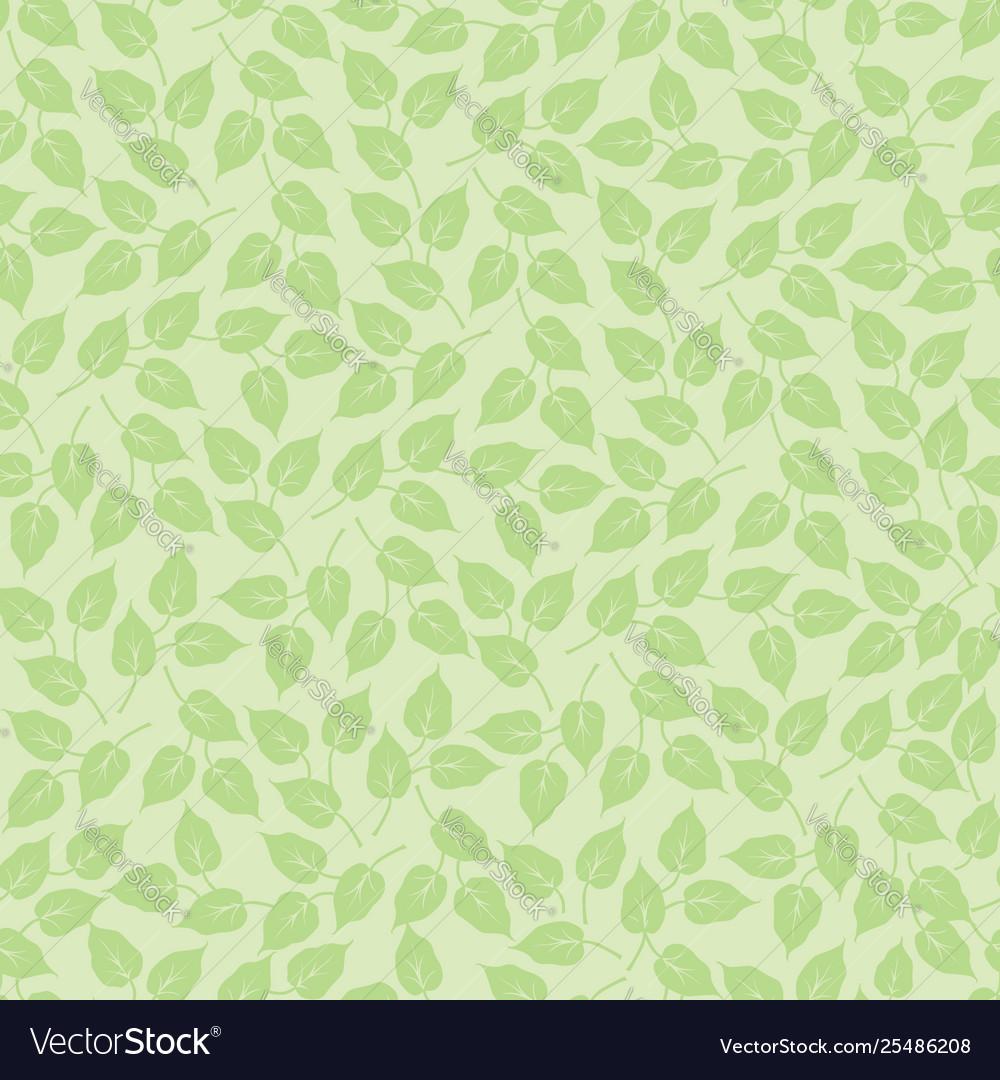 Leaves seamless pattern beautiful floral leaf