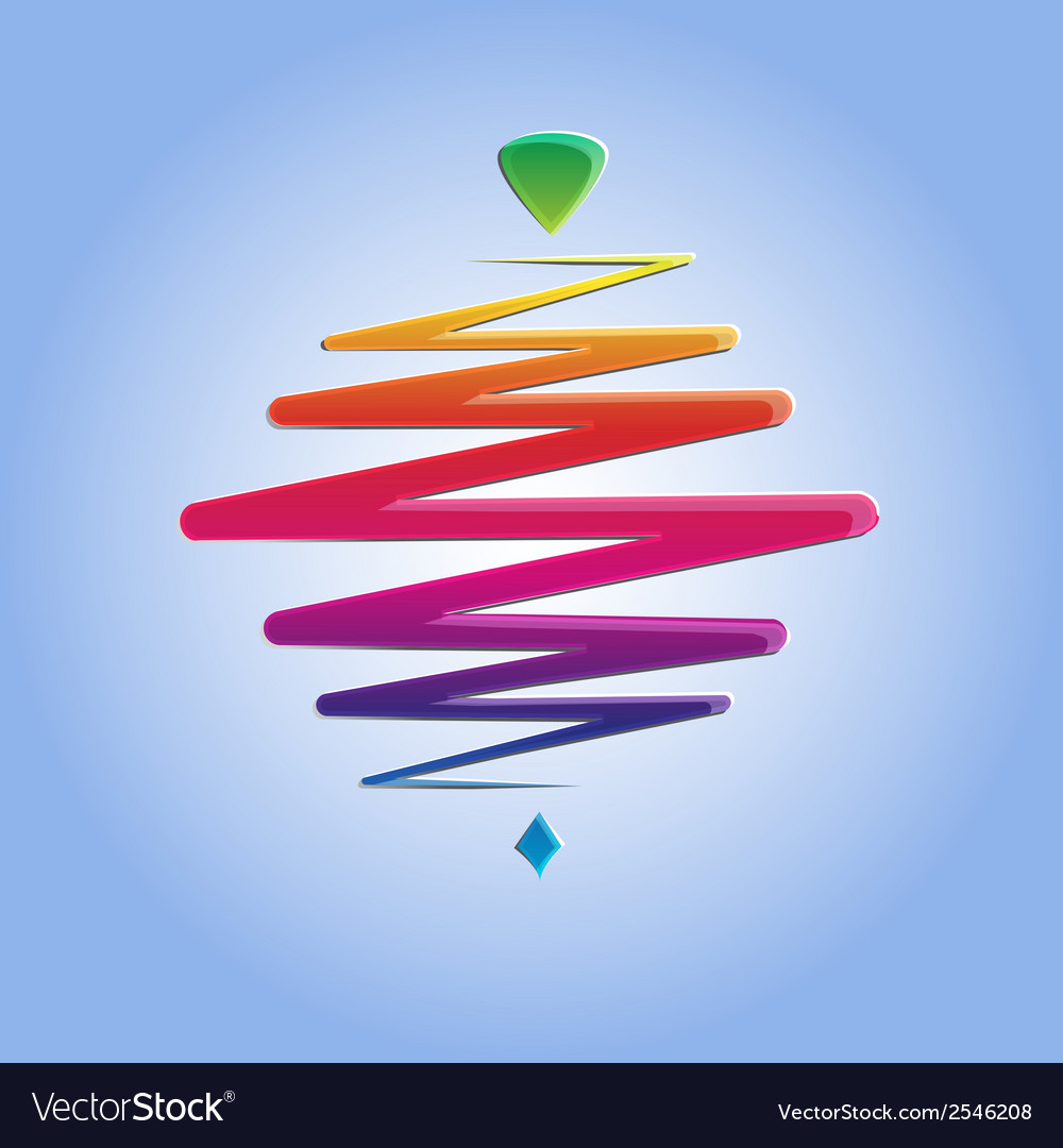 Modern color whirligig on an abstract background vector image