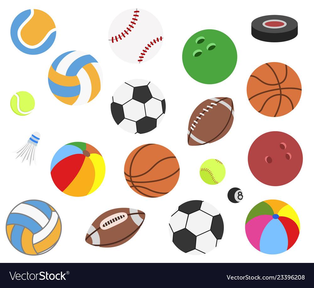 Set realistic sport balls for football