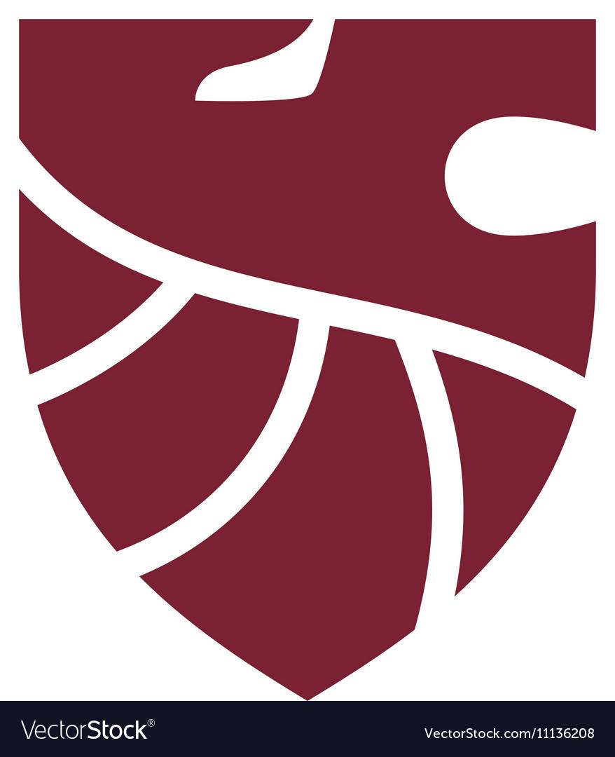 Shield Logo Template Royalty Free Vector Image