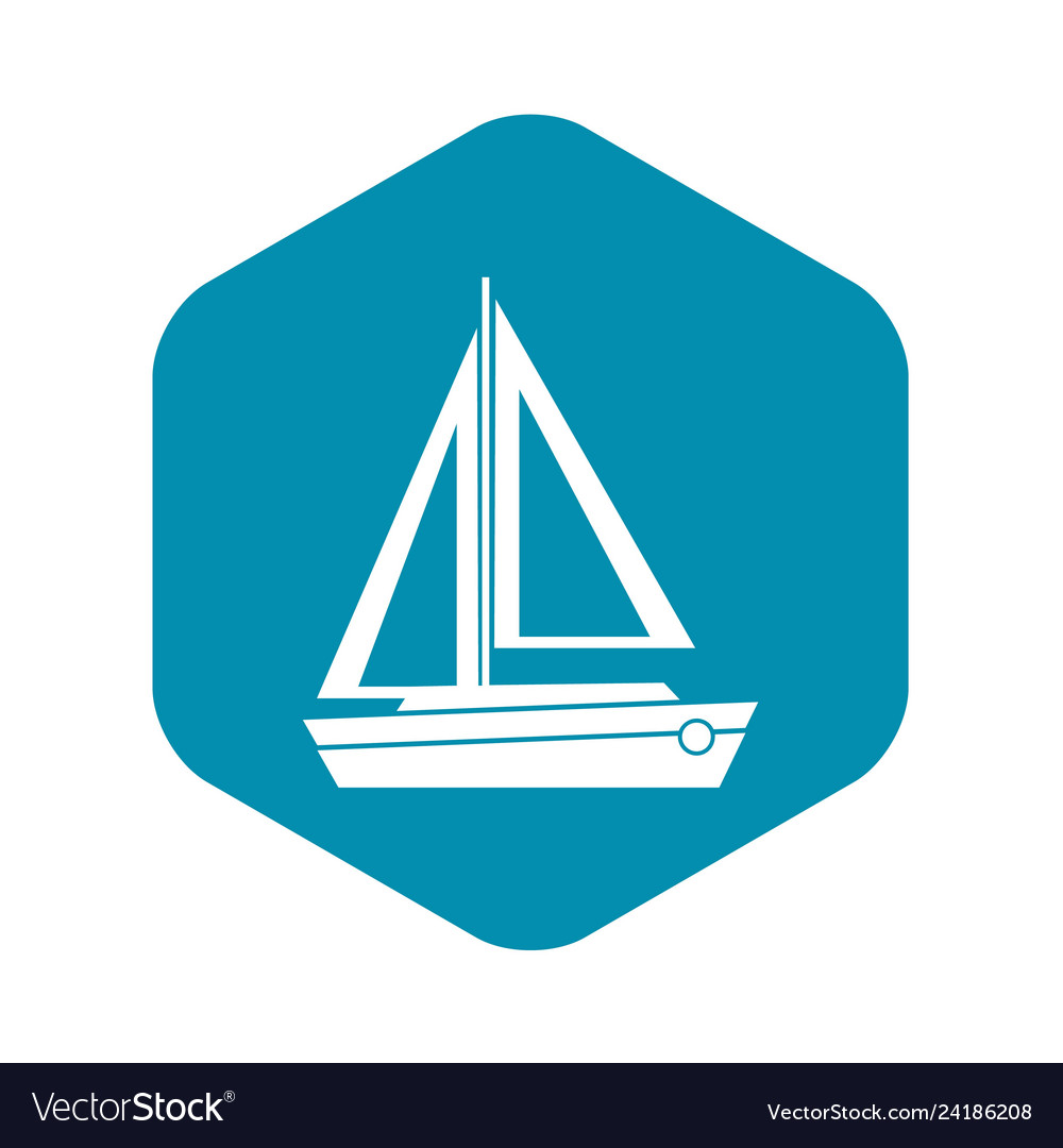 Small boat icon simple style