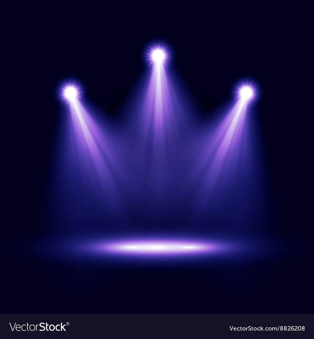 Three Realistic Spotlights Lighting