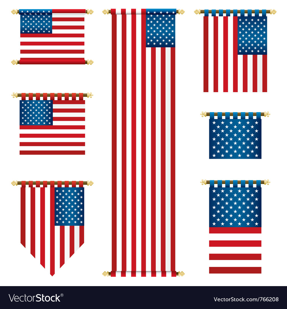 United states banners