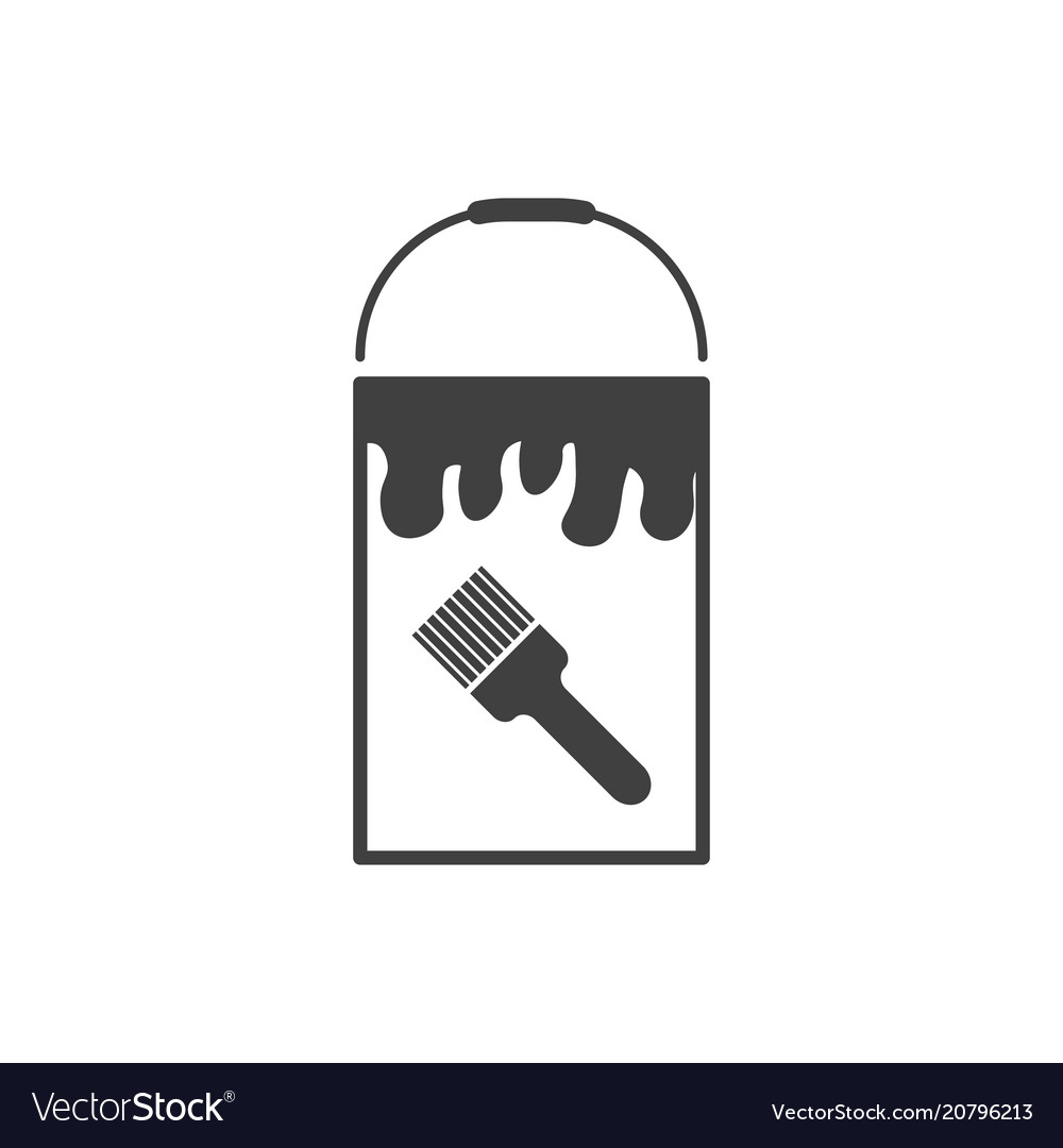Bank icon with paint on white background