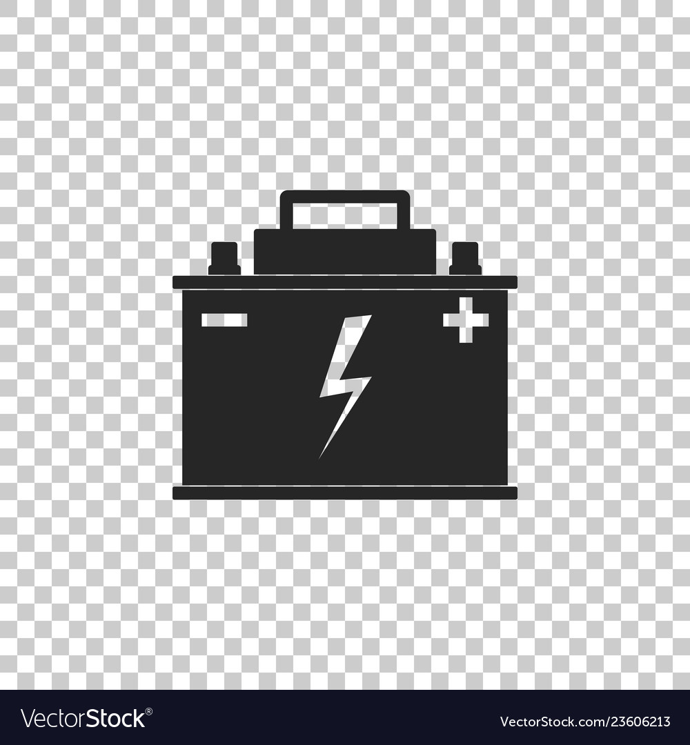 Car battery icon on transparent background