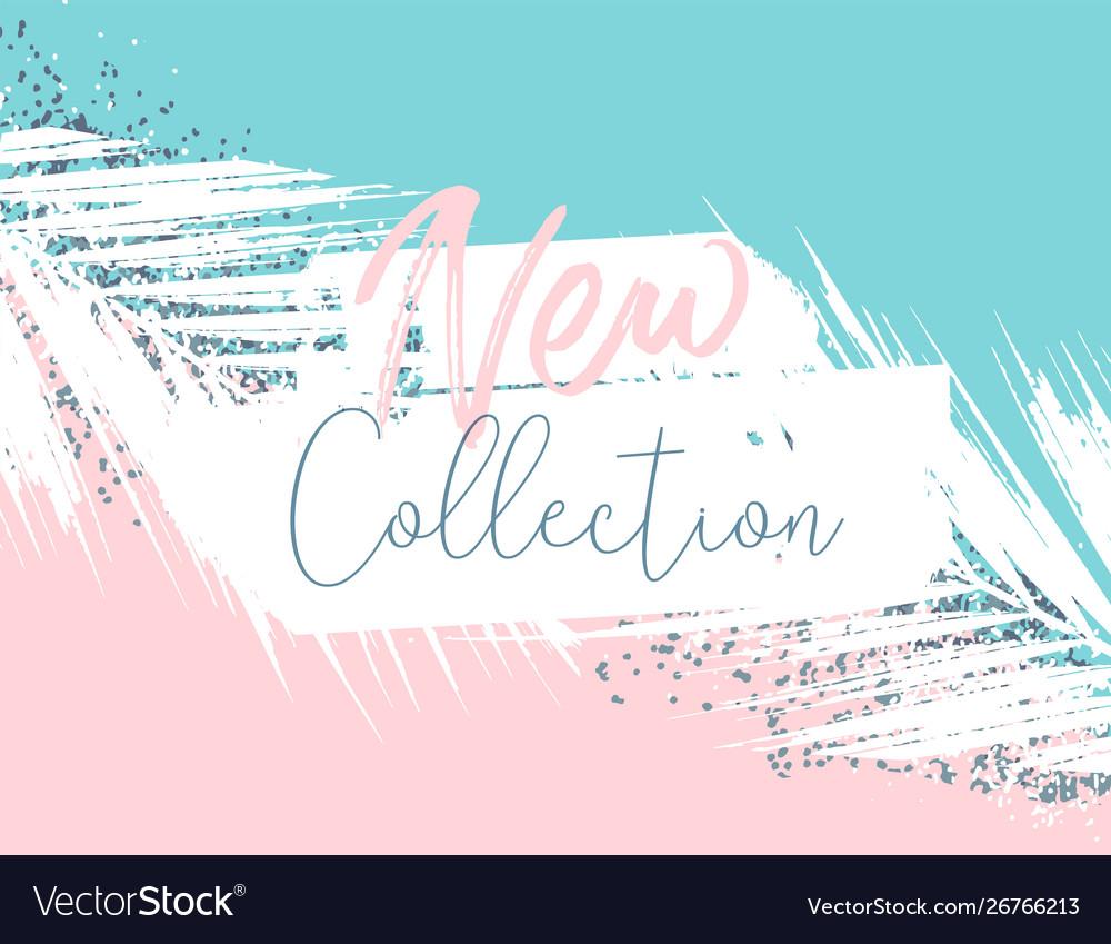 Elegant luxury blue mint pink blush and silver