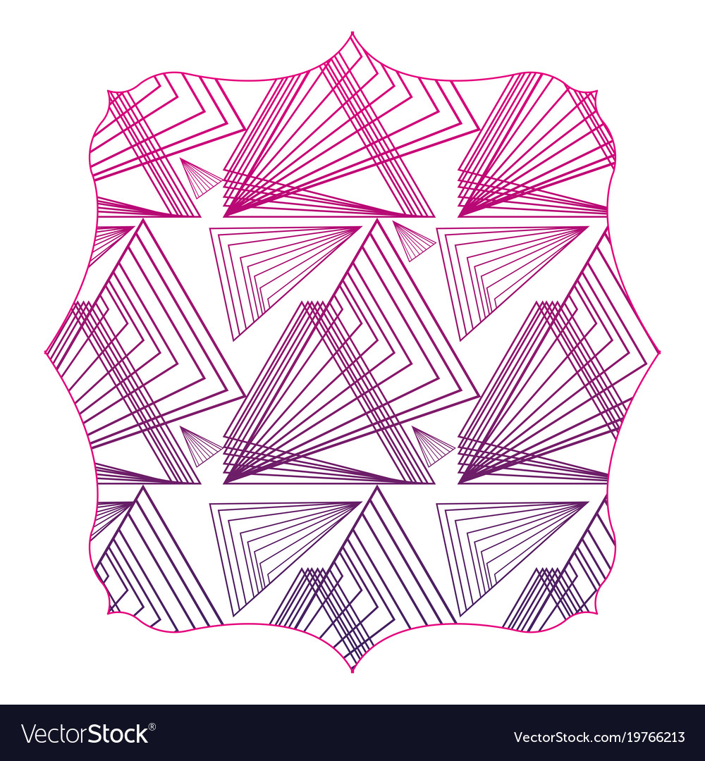 Silhouette Square With Pattern Abstract Shapes