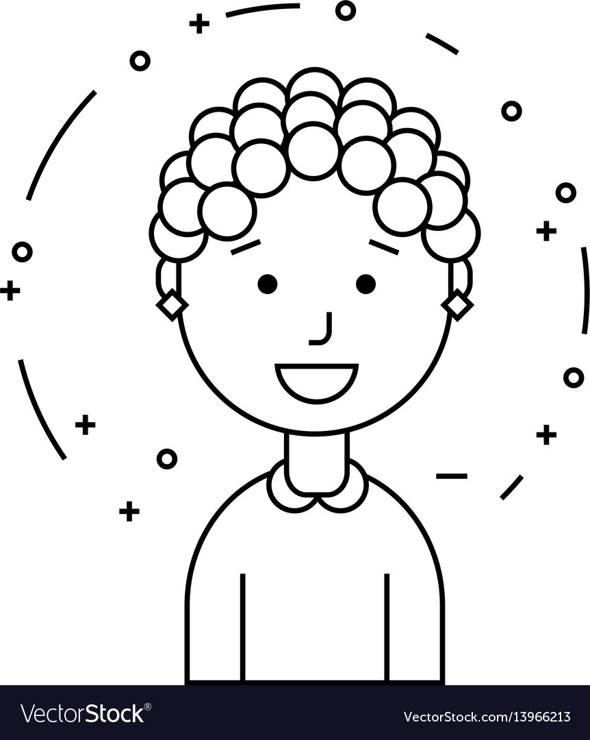 Smiling girl character vector image